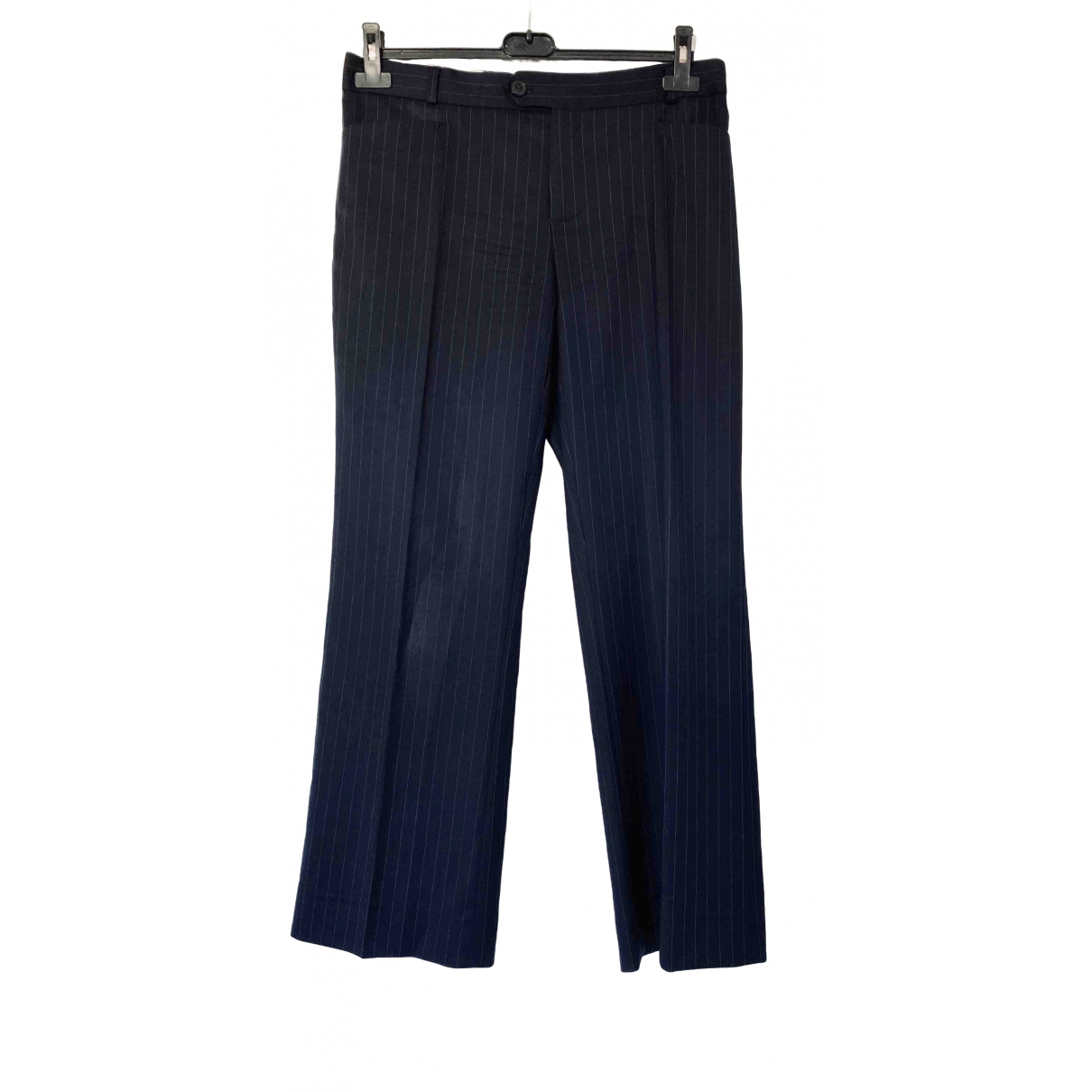Joseph \N Blue Wool Trousers for Women 40 FR