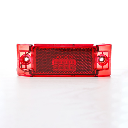 Hd Value HDV2101R - 6 Rectangular Red Marker/Clearance M/C Reflex 4...