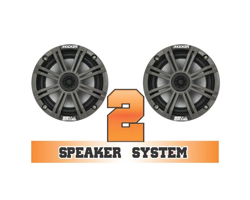 SSV Works RANGER-2K Complete 2 Speaker Kicker System Polaris Ranger RZR XP 4 900 EPS LE 12-13