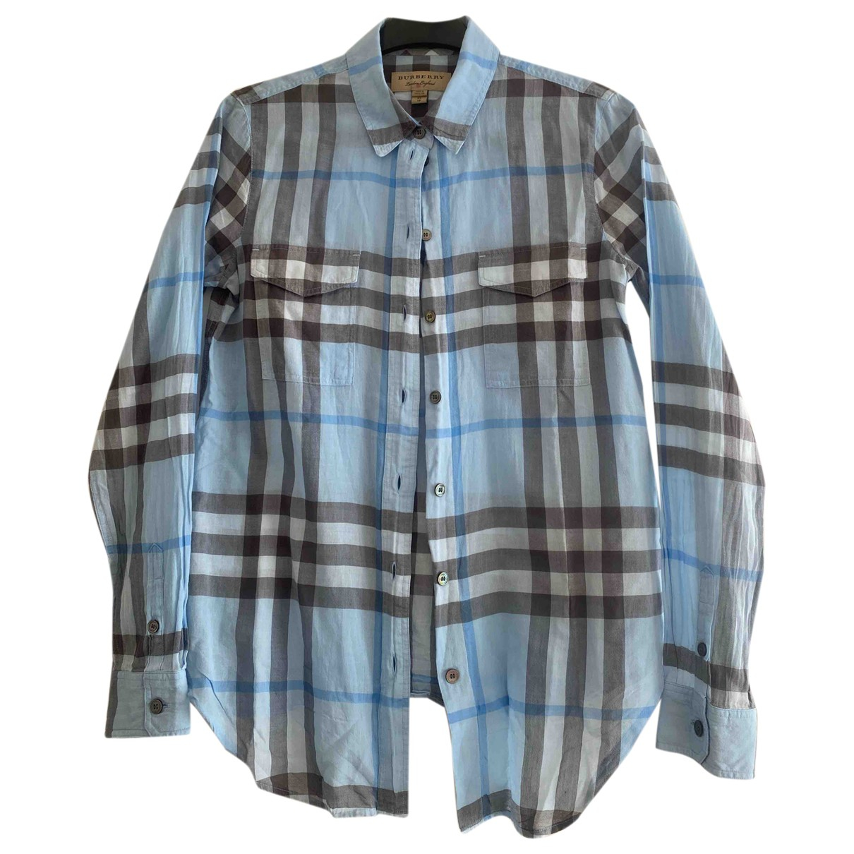 Burberry \N Blue Cotton  top for Women 34 FR