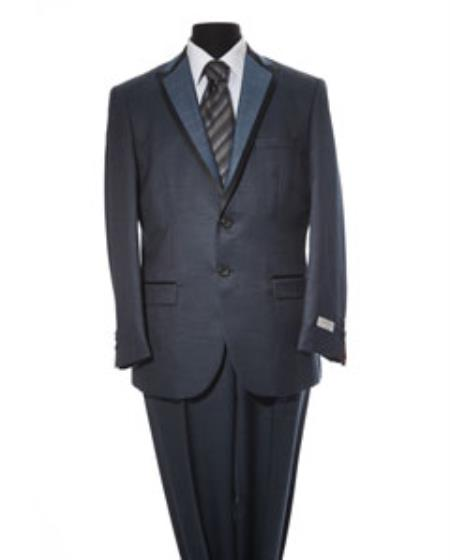 Mens Navy 2 Button 2 Piece Suit