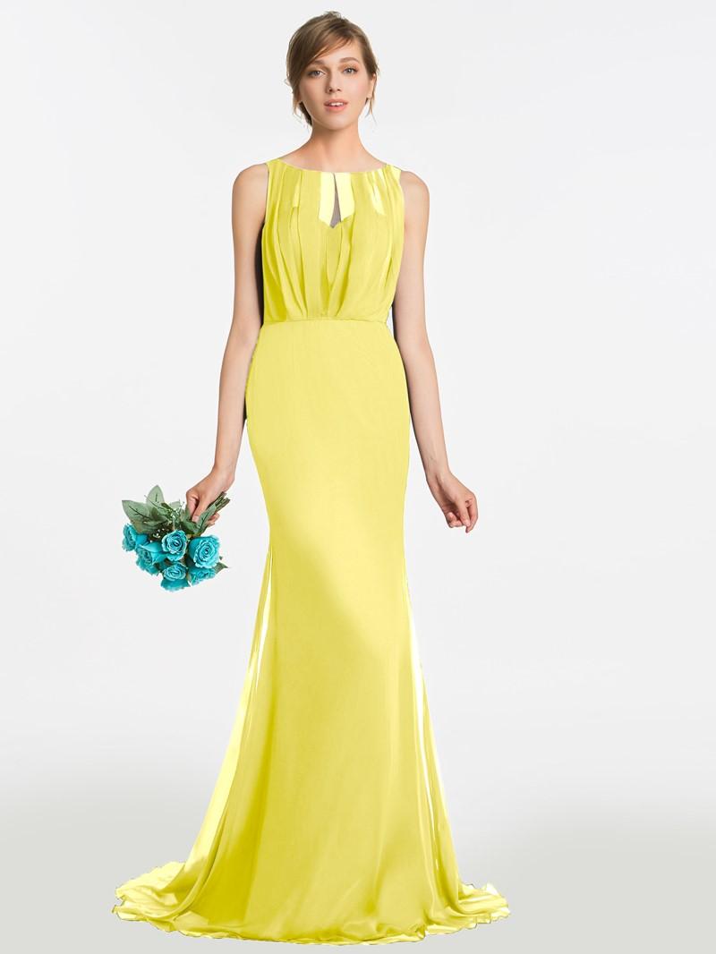 Ericdress Bateau Neck Mermaid Long Bridesmaid Dress