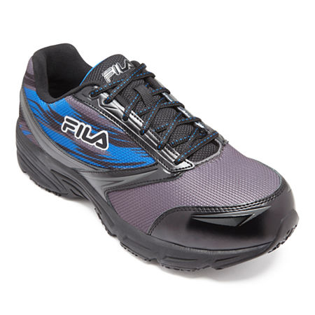 Fila Memory Meiera 2 Composite Toe Slip-Resistant Work Shoes Mens Running Shoes, 8 Medium, Gray