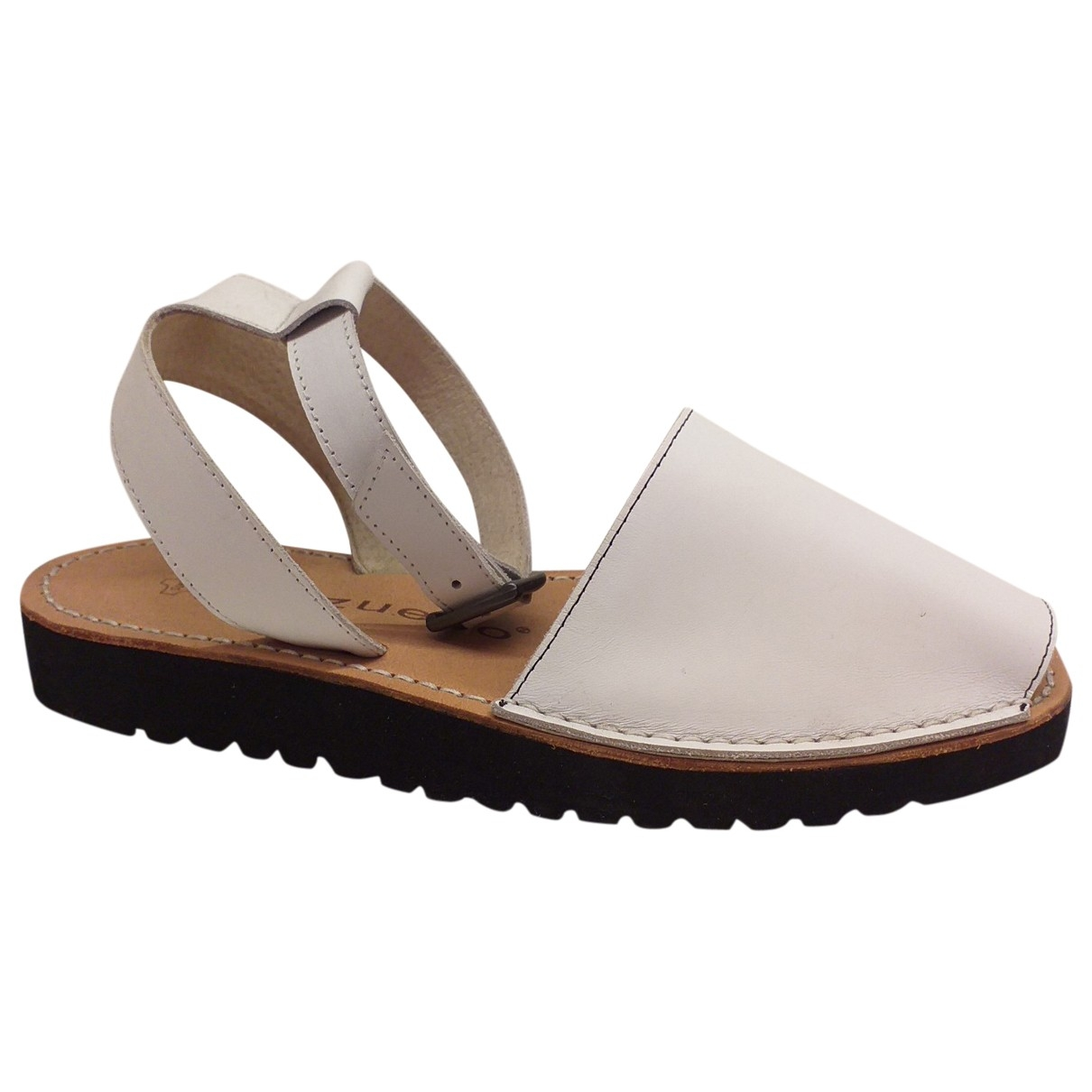 Non Signé / Unsigned \N White Leather Sandals for Women 38 EU