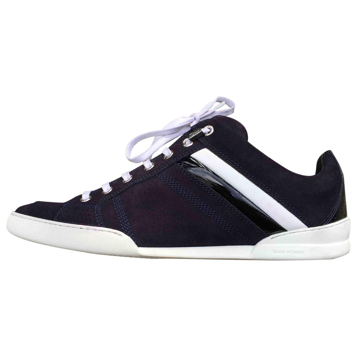 Dior Homme B18 Navy Suede Trainers for Men 42 EU