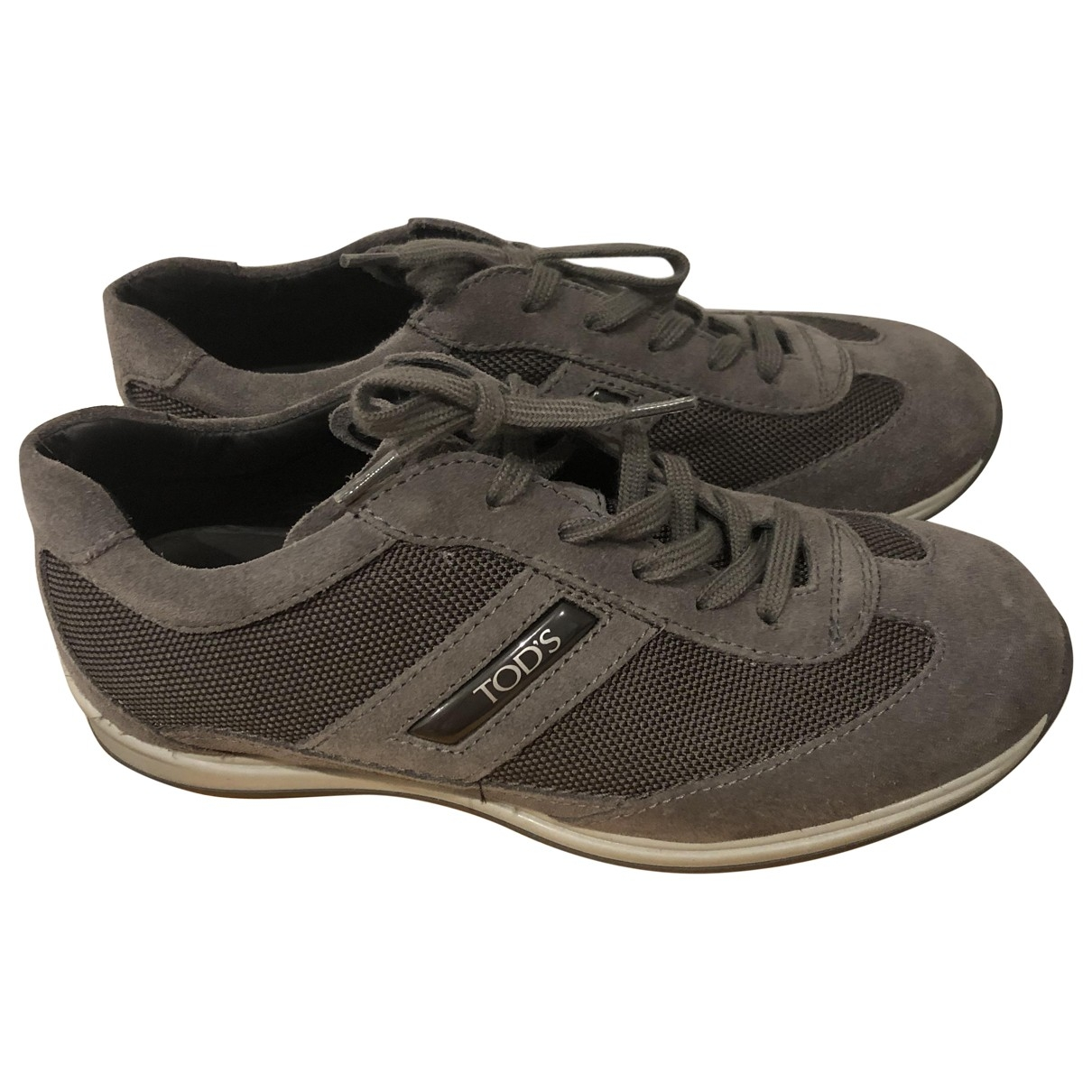 Tod's \N Grey Suede Trainers for Kids 33 EU