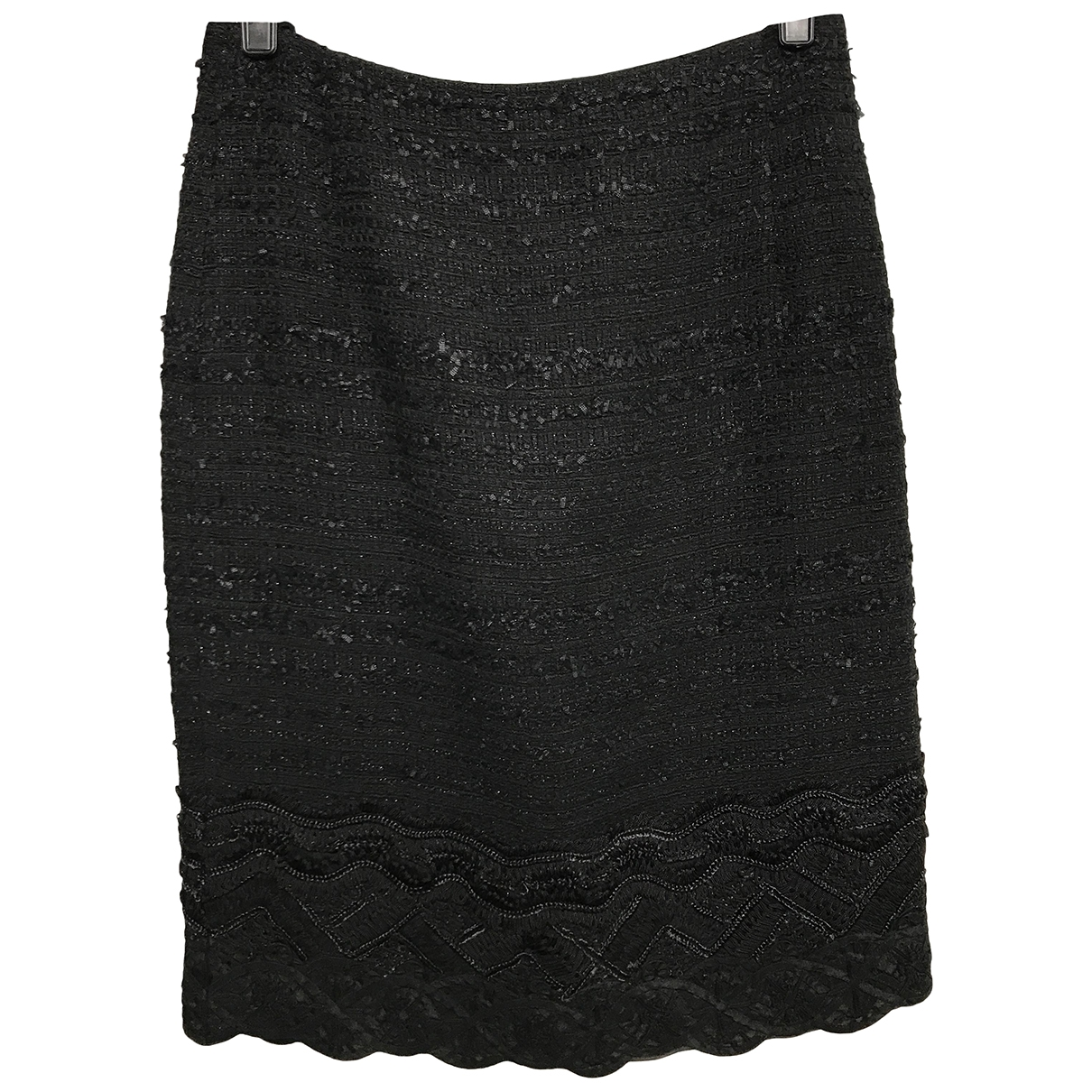 Oscar De La Renta \N Black Silk skirt for Women 4 UK