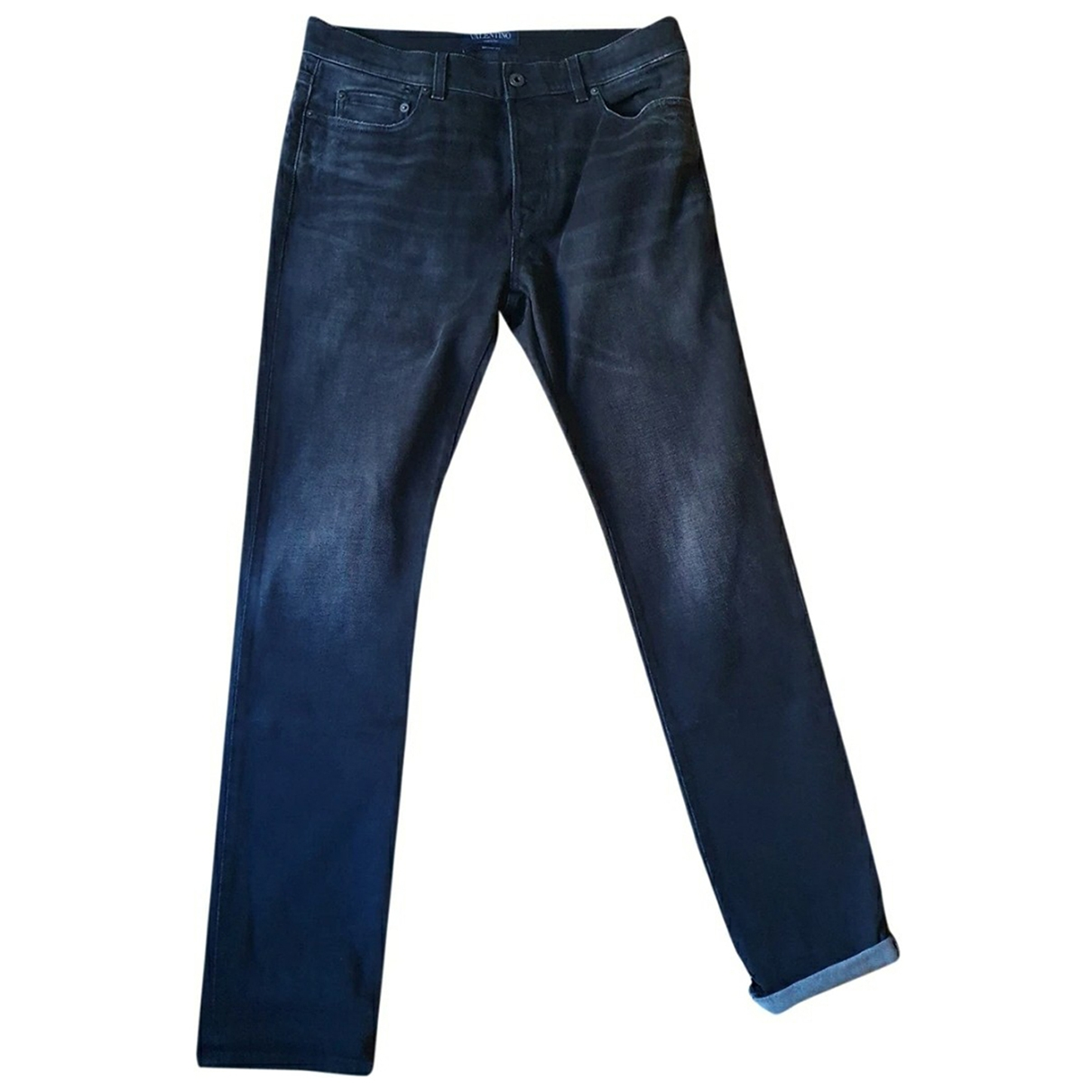 Valentino Garavani \N Black Cotton Jeans for Men 33 US