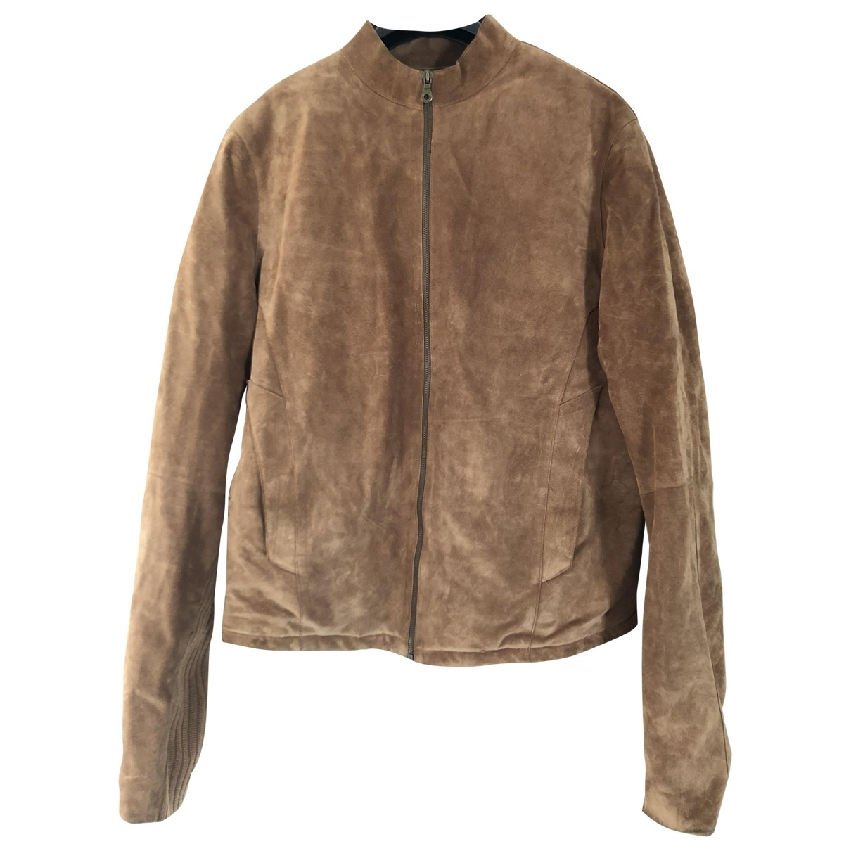 Thierry Mugler \N Brown Leather jacket  for Men 50 FR