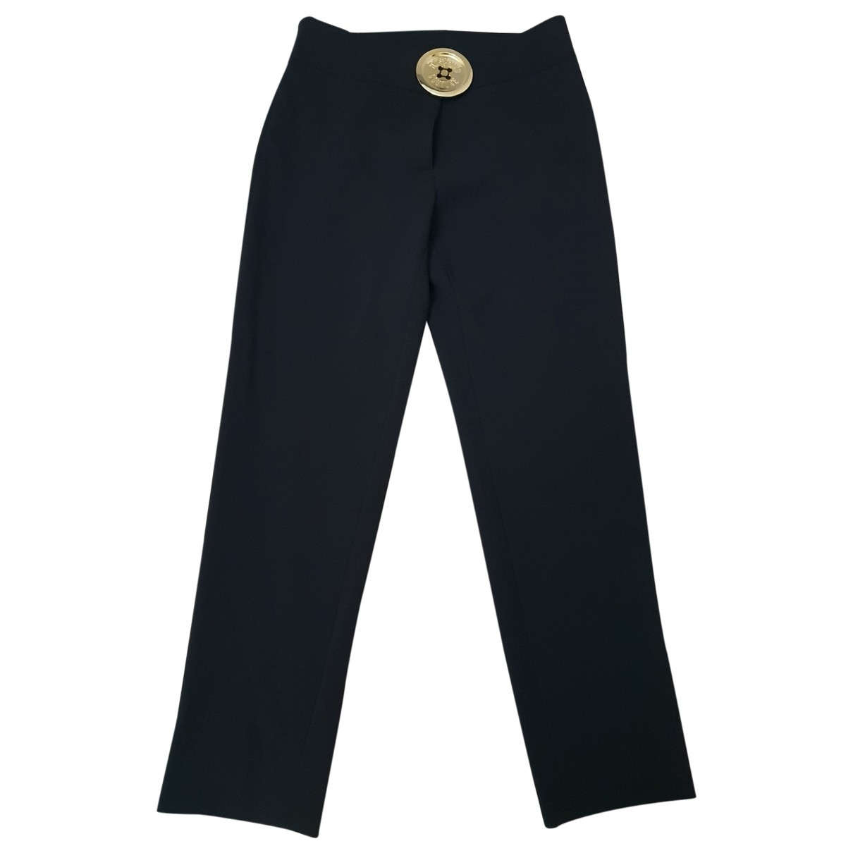 Moschino \N Black Cloth Trousers for Women 38 IT