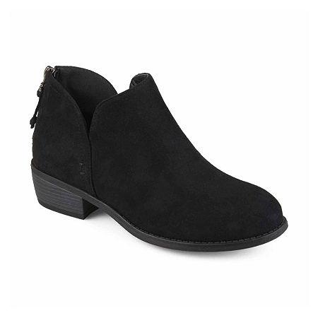 Journee Collection Womens Livvy Booties Block Heel, 9 Medium, Black