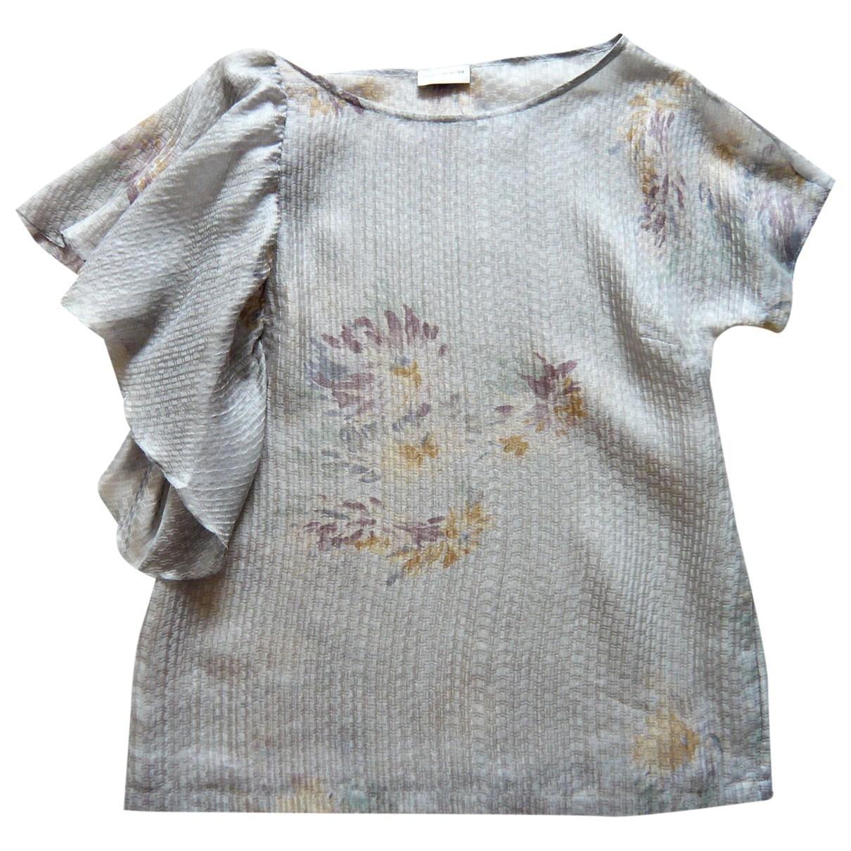Dries Van Noten \N Grey Silk  top for Women 38 FR