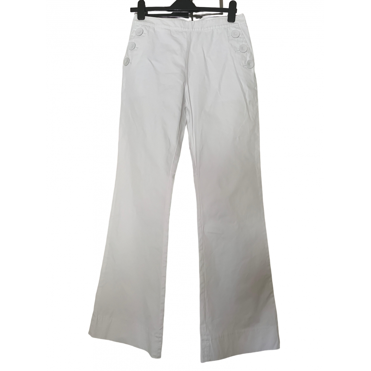 Designers Remix \N White Cotton Trousers for Women 38 FR