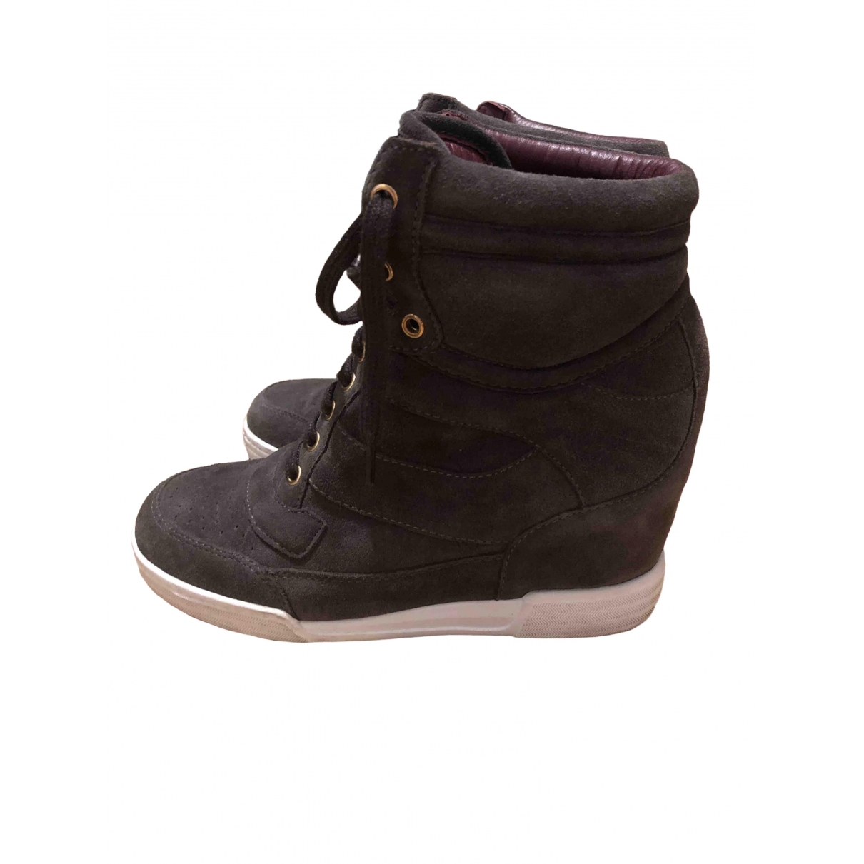 Marc By Marc Jacobs \N Anthracite Leather Trainers for Women 40 EU
