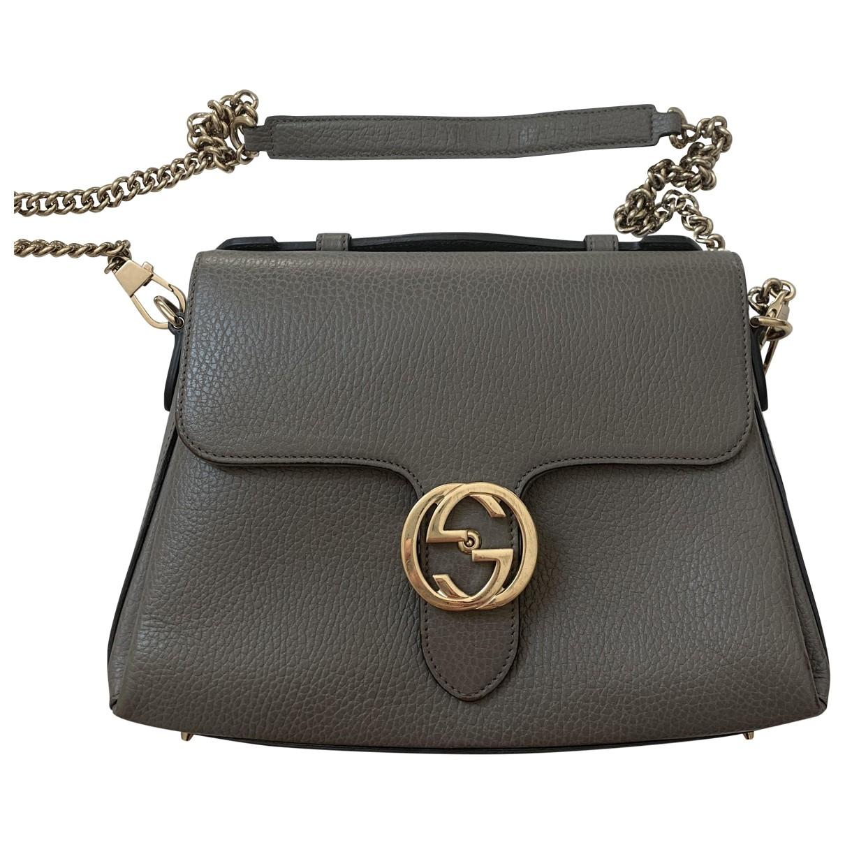 Gucci Interlocking Grey Leather handbag for Women \N