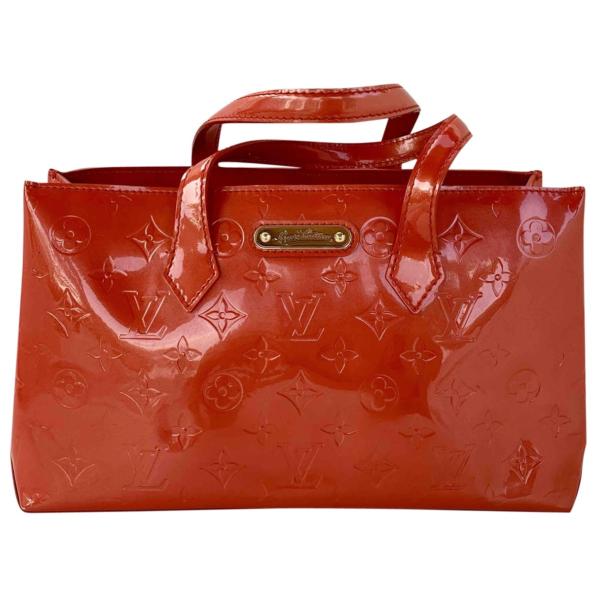 Louis Vuitton Wilshire Orange Patent leather handbag for Women \N