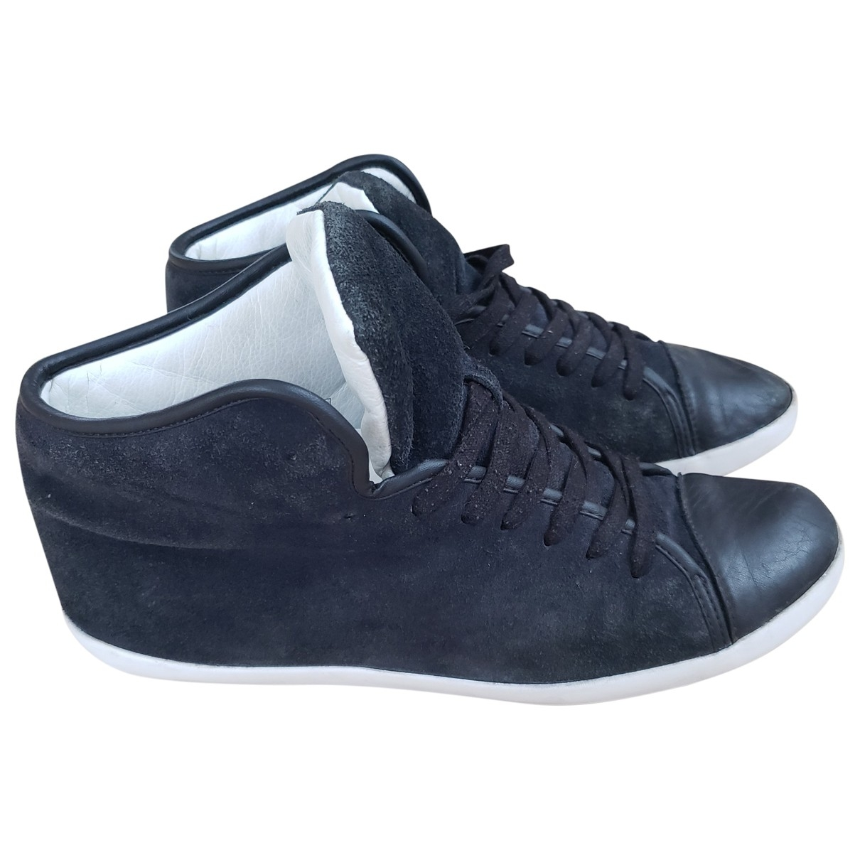 Sandro \N Black Suede Trainers for Men 43 EU