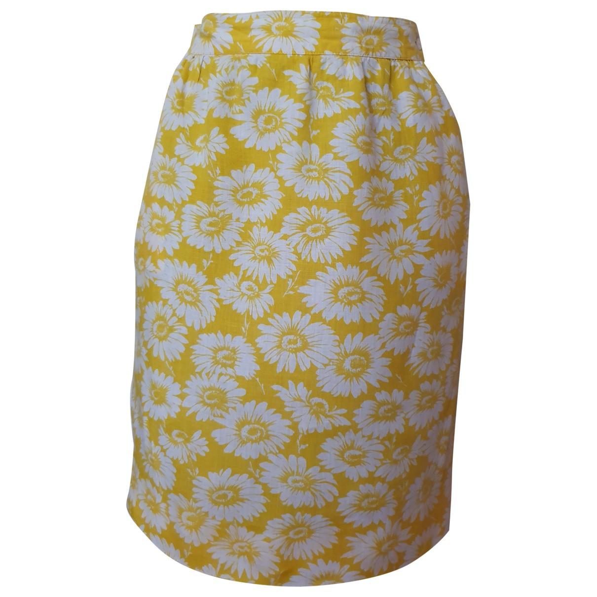 Ungaro Parallele \N Multicolour Linen skirt for Women 38 IT