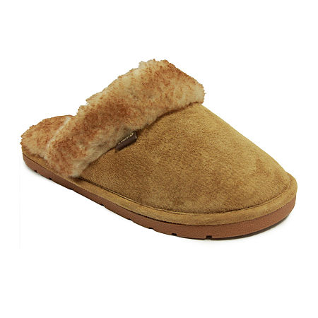 Lamo Scuff Suede Slippers, Large , Brown