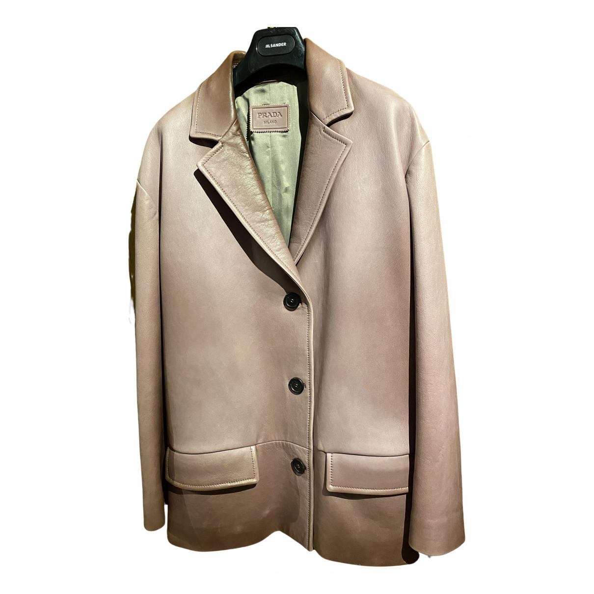 Prada \N Purple Leather jacket for Women 42 IT