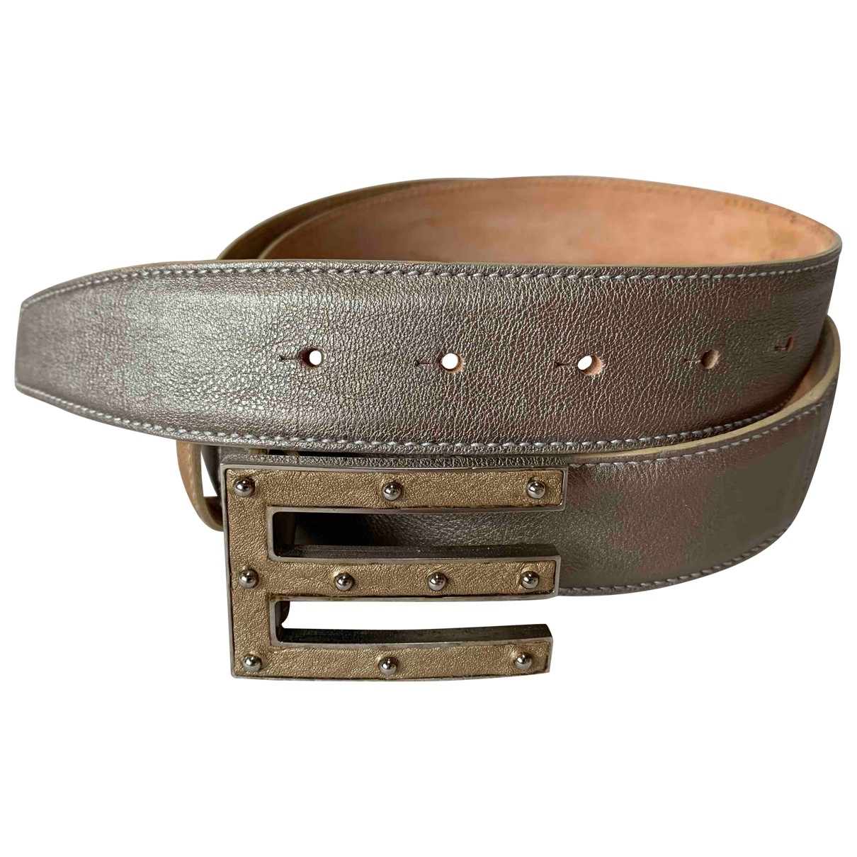 Etro \N Gold Leather belt for Women 90 cm