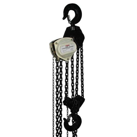 Jet S90-1000-20, 10-Ton Hand Chain Hoist with 20 Ft. Lift
