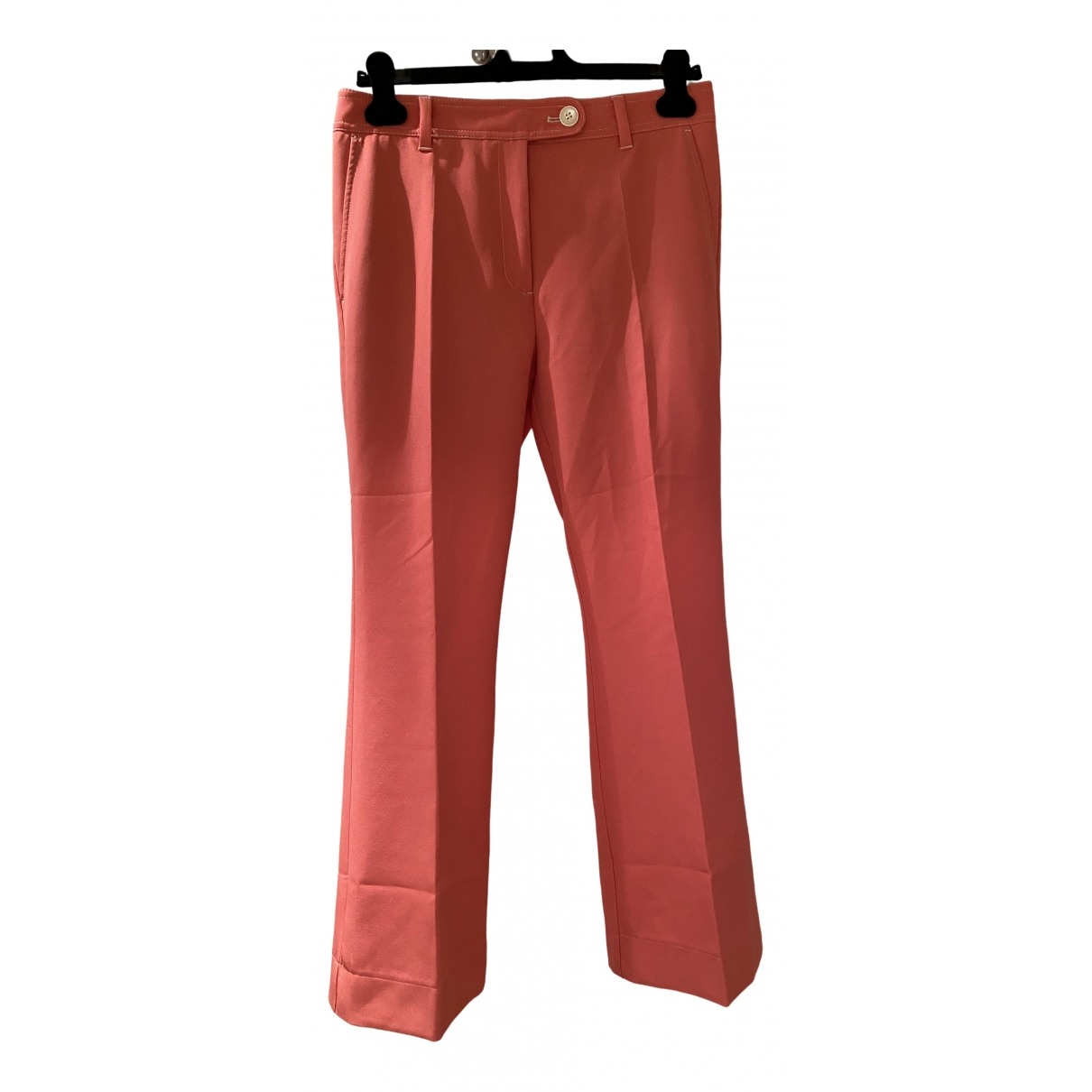 Stine Goya \N Pink Linen Trousers for Women M International