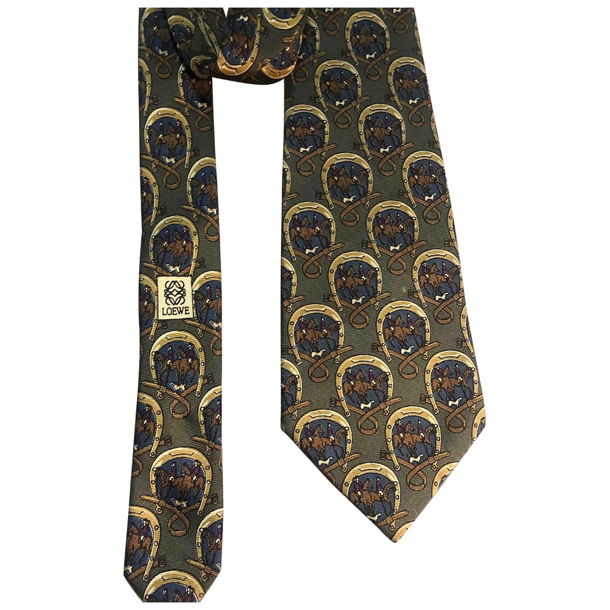 Loewe \N Khaki Silk Ties for Men \N