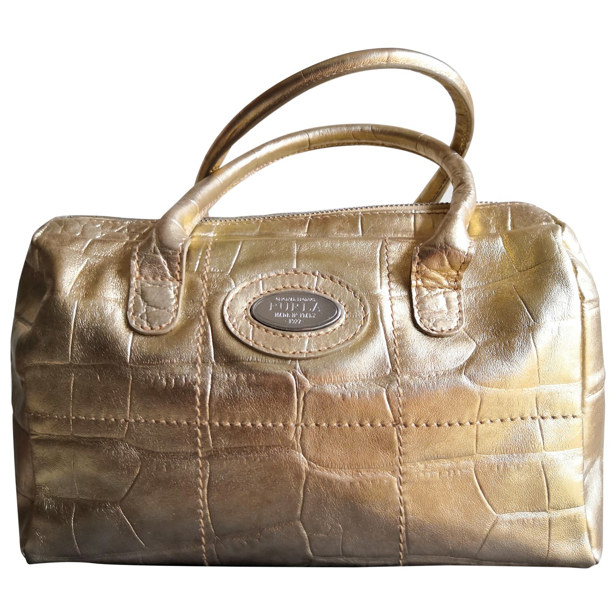 Furla \N Gold Leather handbag for Women \N