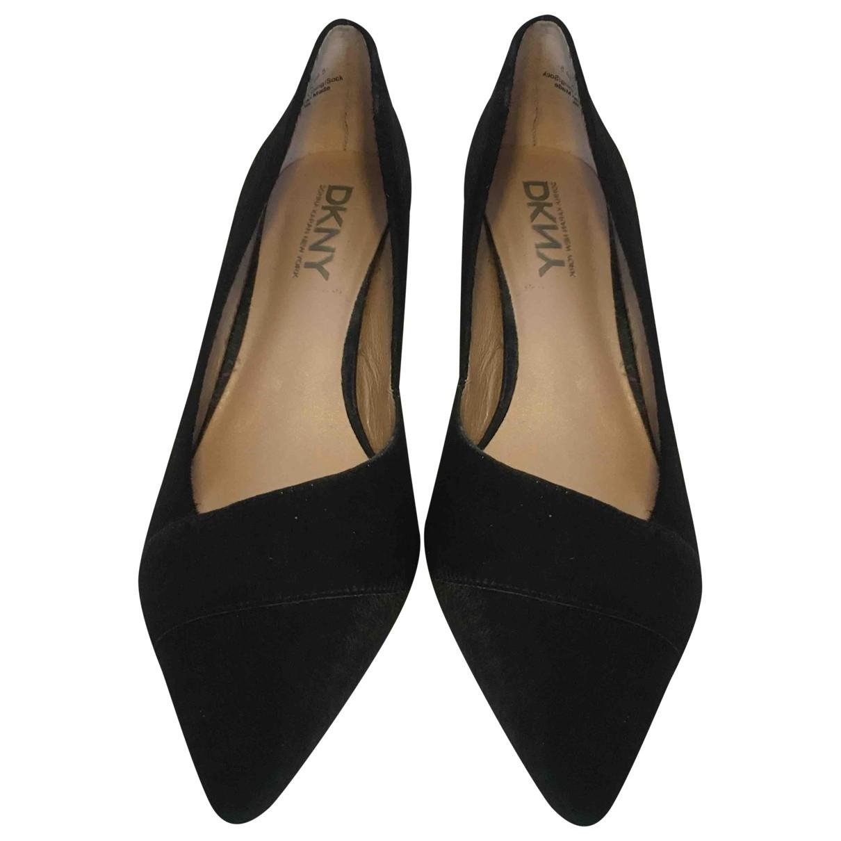 Dkny \N Black Fur Heels for Women 38.5 EU