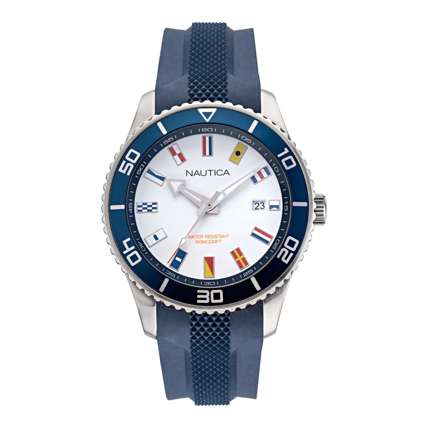 Nautica Men's Pacific Beach NAPPBF914 Blue Silicone Quartz Fashion Watch