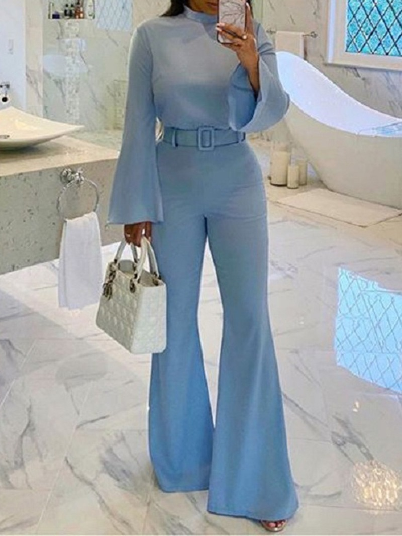 Ericdress Casual Full Length Plain Slim Fashion Jumpsuit