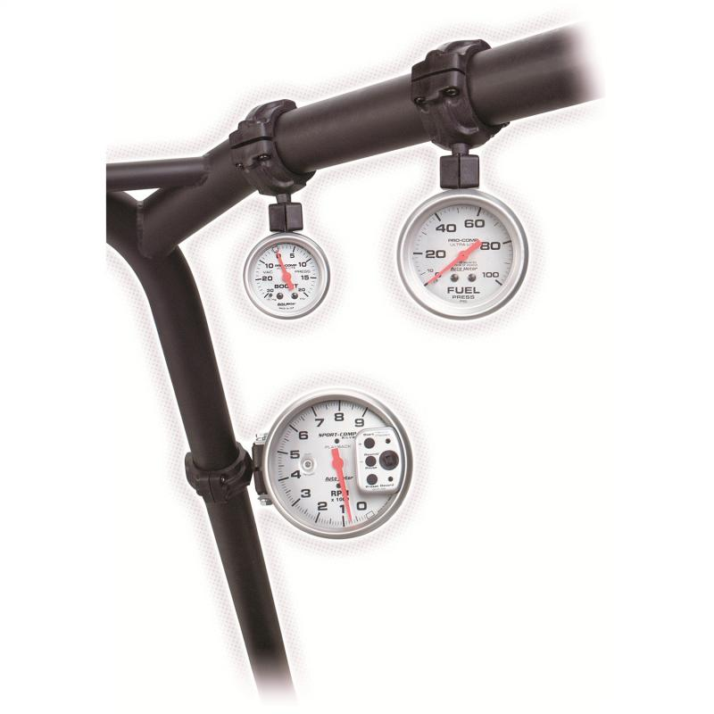 AutoMeter GAUGE MOUNT; ROLL POD FOR 1.75in. ROLL CAGE; FITS 2 5/8in. GAUGE; BLACK