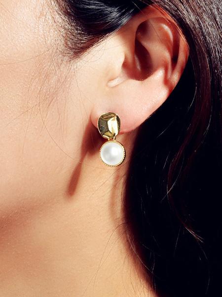 Milanoo Pearl Earrings Women Jewelry Dangle Earrings
