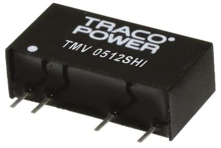TRACOPOWER TMV HI 1W Isolated DC-DC Converter Through Hole, Voltage in 13.5 → 16.5 V dc, Voltage out -9 V dc, 15