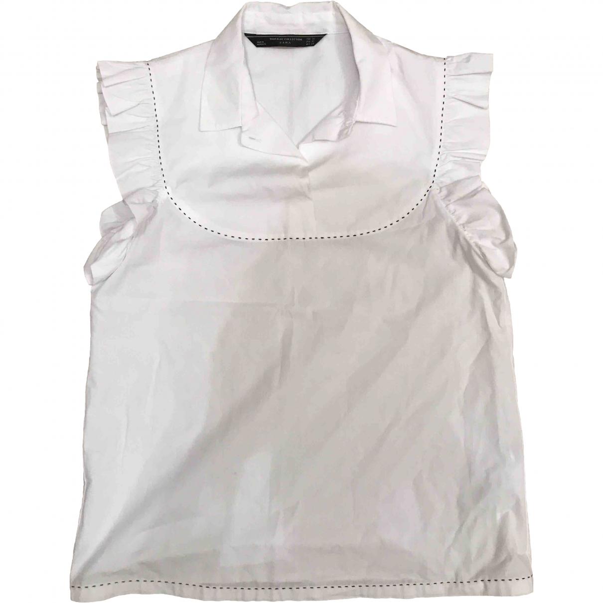 Zara \N White Cotton  top for Women XS International