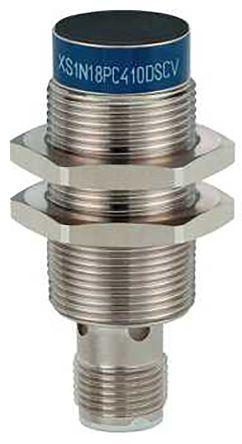 Telemecanique Sensors M18 x 1 Inductive Sensor - Barrel, PNP-NO/NC Output, 5 mm Detection, IP65, IP67, IP69K, M12 - 4