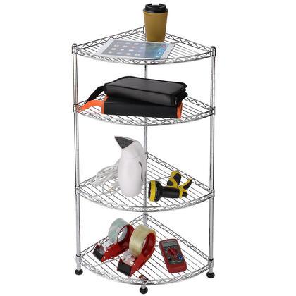 Corner Rack Storage Shelf Galvanized Anti-rust Steel Adjustable Organizer 4Tier-SortWise