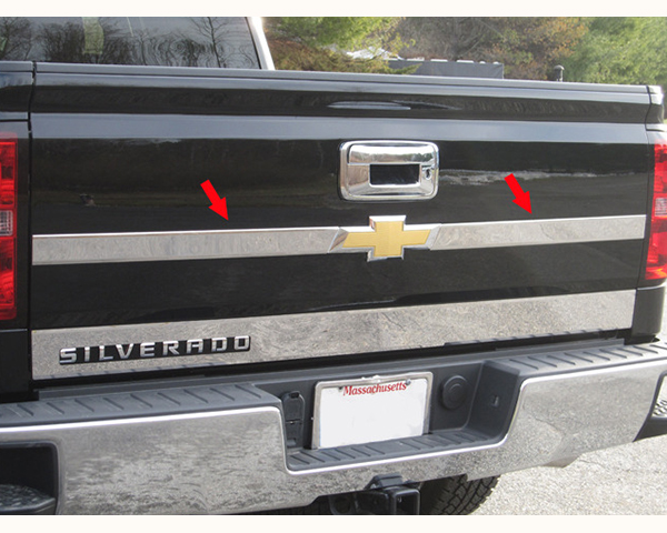 Quality Automotive Accessories 2-Piece Upper tailgate Accent bar Chevrolet Silverado 2500 2014