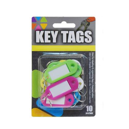Étiquette de clé flexible Id étiquettes étiquettes avec Split Split 10Pcs / Pack