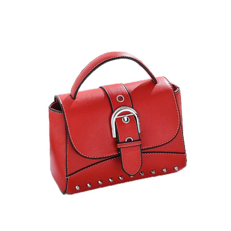 Ericdress PU Rivet Plain Flap Crossbody Bags