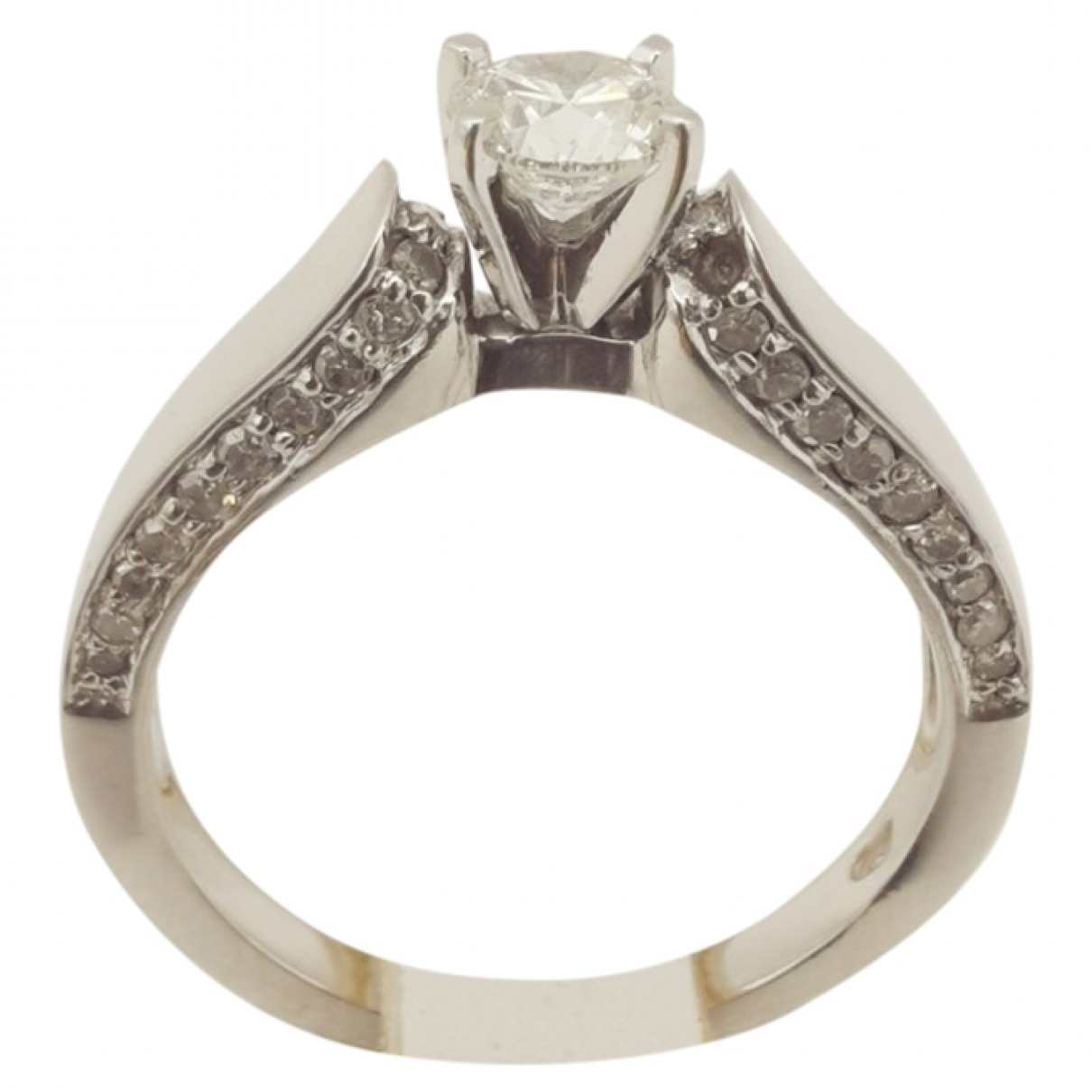 Non Sign?? / Unsigned Solitaire Grey White gold ring for Women 54 EU