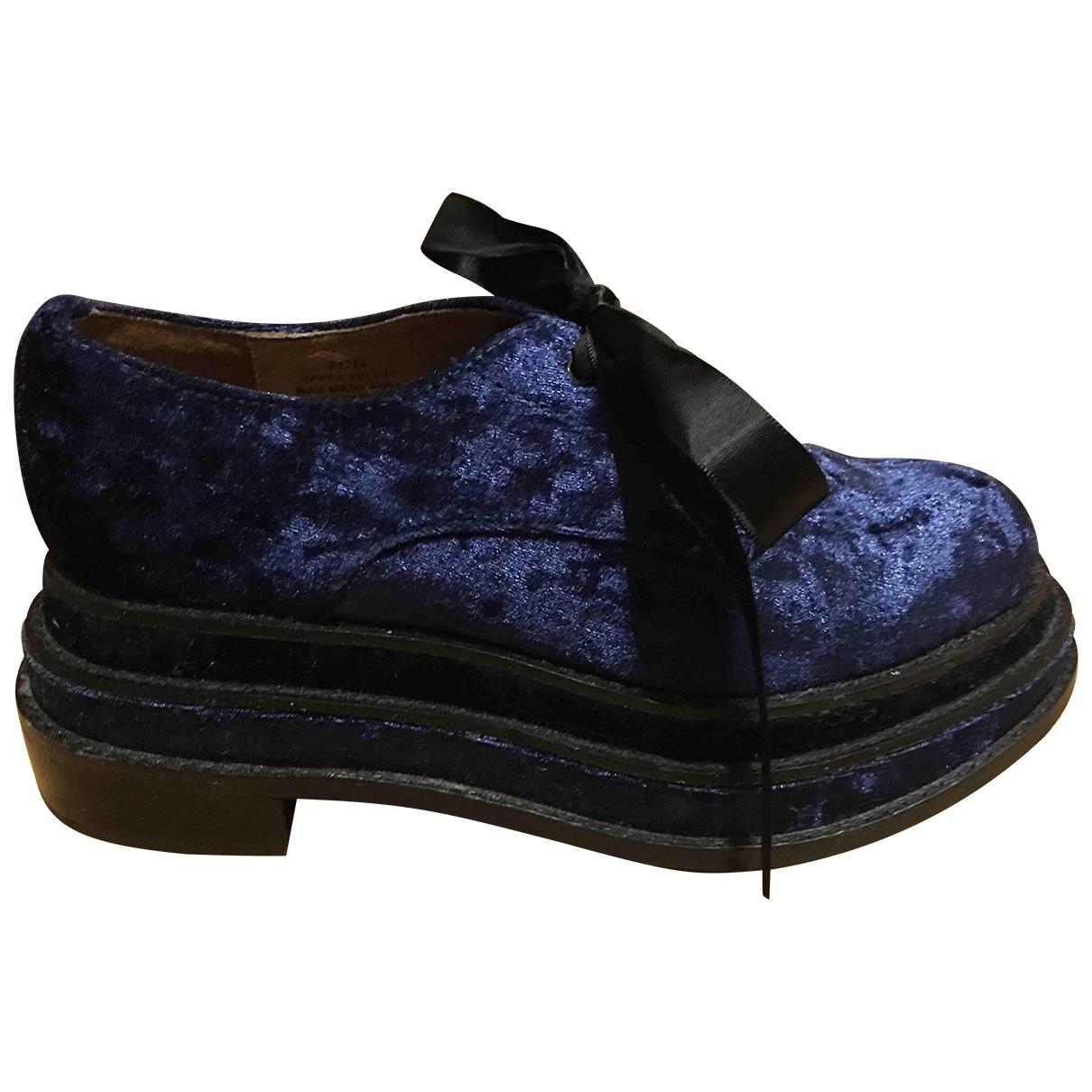 Jeffrey Campbell \N Blue Velvet Flats for Women 36 EU