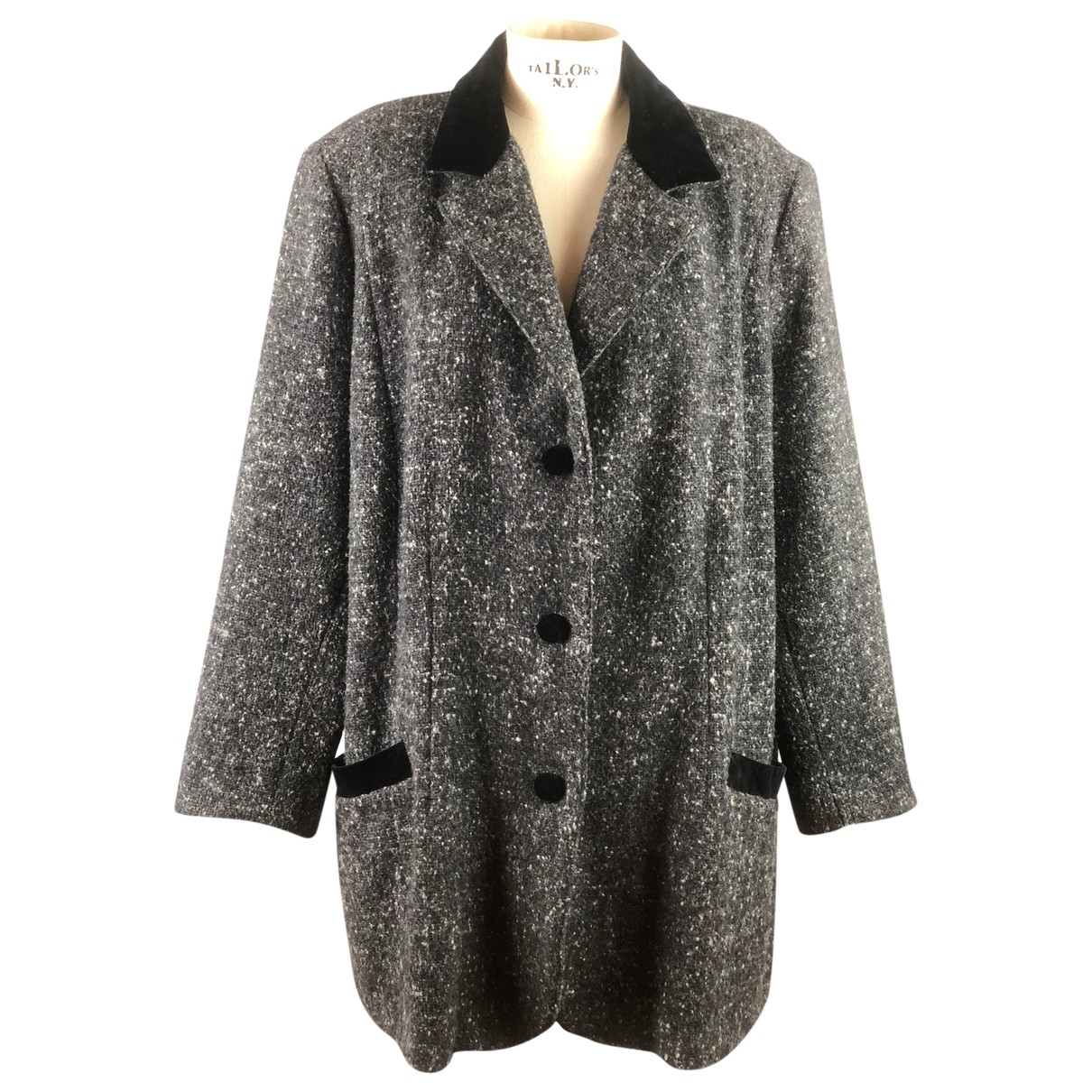 Non Signé / Unsigned \N Anthracite Wool coat for Women 48 IT