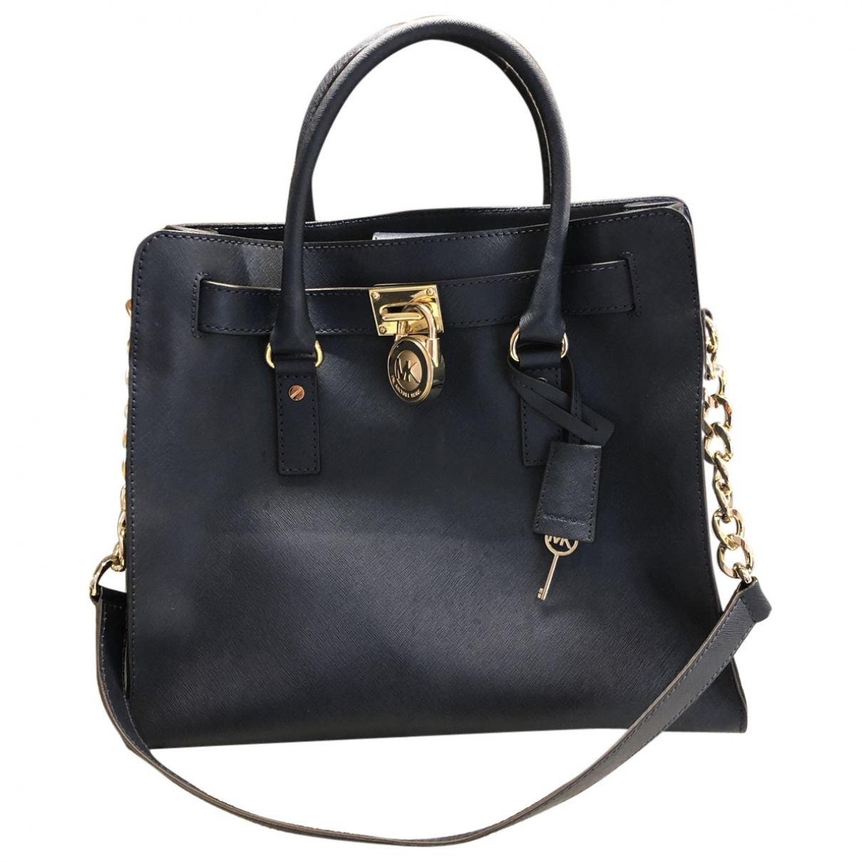 Michael Kors Hamilton Blue Leather handbag for Women \N