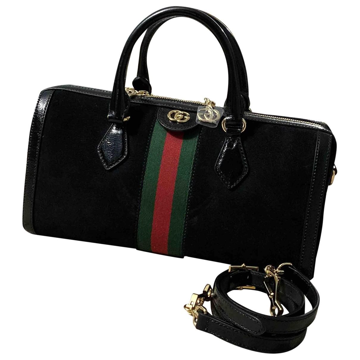 Gucci Ophidia Black Suede handbag for Women \N