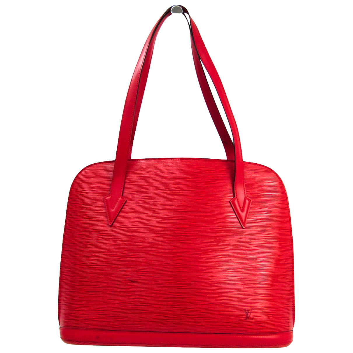 Louis Vuitton Lussac Red Leather handbag for Women \N