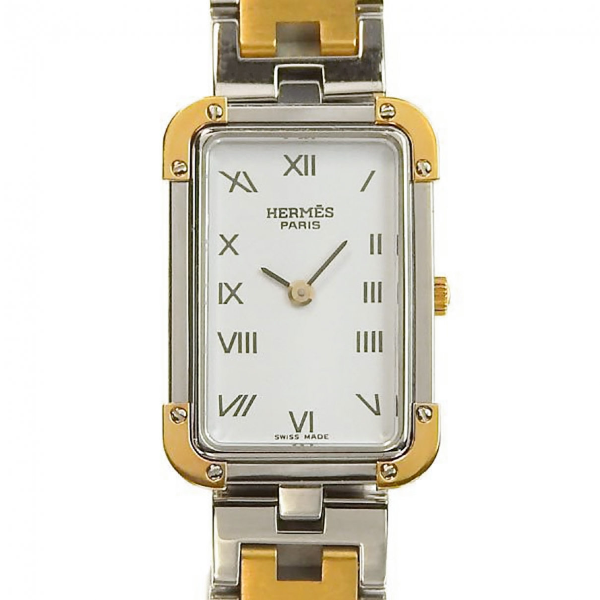 Hermès \N Silver gold and steel watch for Women \N