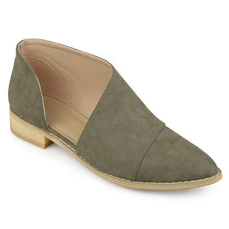 Journee Collection Womens Quelin Slip-On Shoe, 8 1/2 Medium, Green