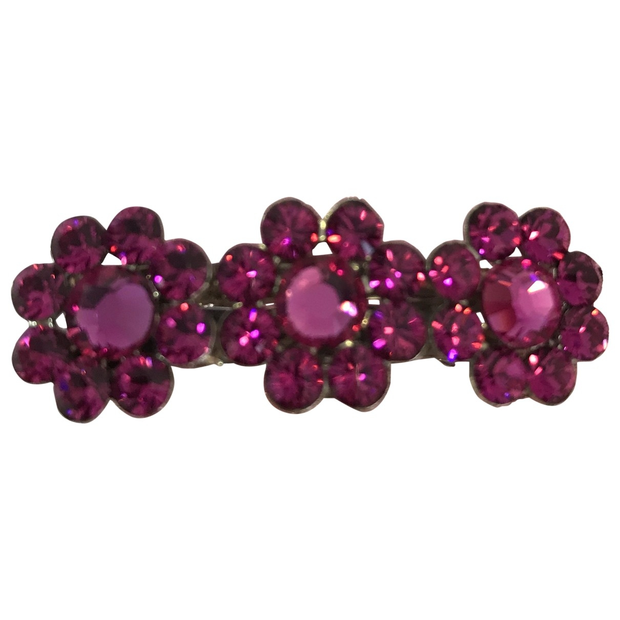 Non Signé / Unsigned \N Pink Metal Pins & brooches for Women \N